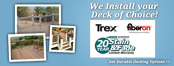 Get the Most Durable Decking Options on the Market today! Decks build to last.